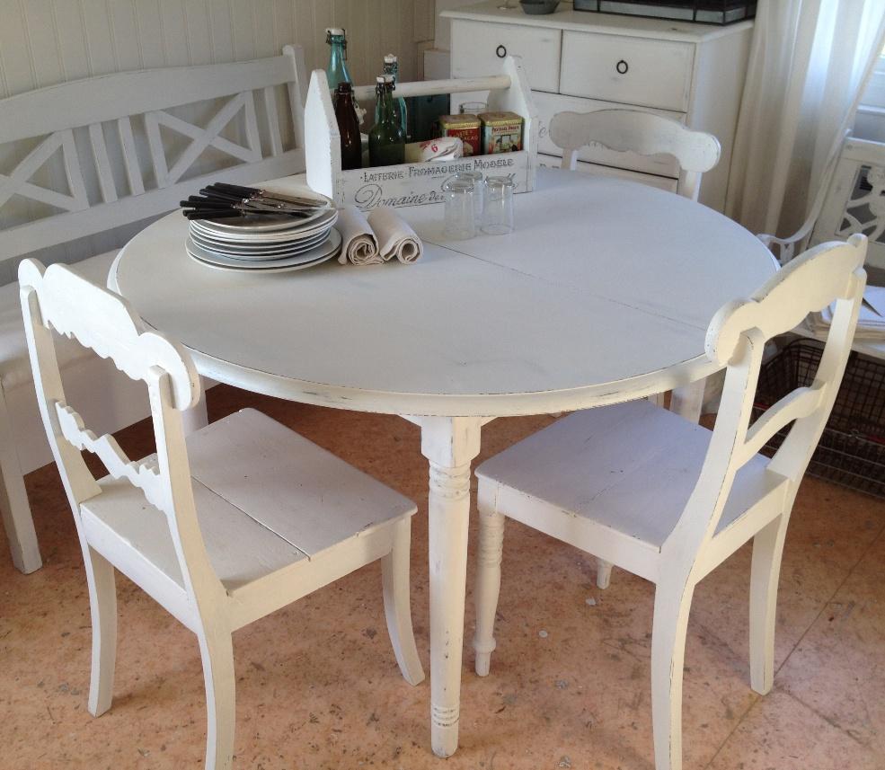 runda bord med iläggsskiva