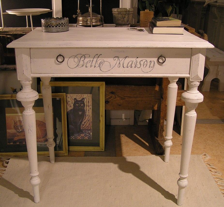 Litet Koksbord Med Klaff : Himlarum  Litet skrivbord databord koksbord Belle Maison