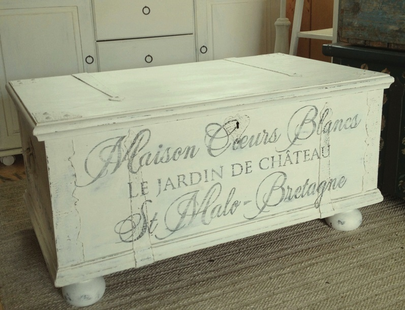 HIMLARUM möbler shabby chic : Stora matbord shabby chic