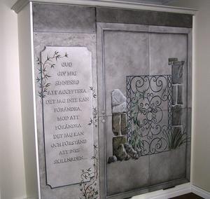 Dekormålning frysar, kylskåp och skafferi