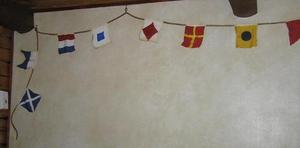 Flaggspel och kompassros