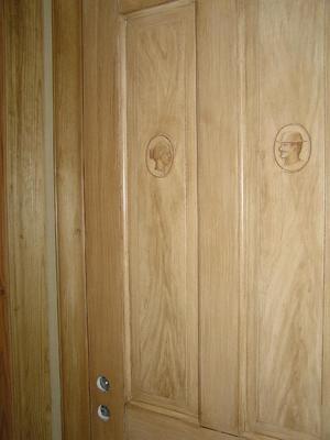 Ådringsmålad wc-dörr