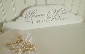 Liten sittbänk med lådor Romeo & Juliet