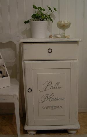 Sängbord sideboard litet skåp Belle Maison