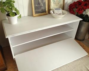 TV-bänk sittbänk kista med lucka framtill