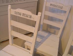Stolar med texter hamnstäder maritim stil