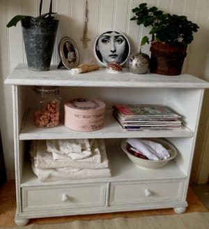 Skohylla TV-bänk bokhylla sideboard Lavande de Provence