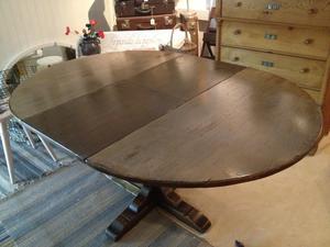 Matbord med pelarfot och extra-skiva
