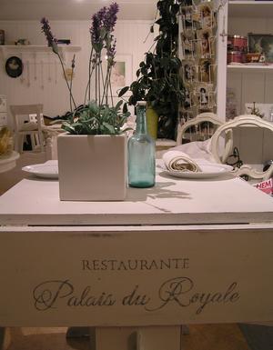 Klaffbord matbord Restaurante Palais du Royale