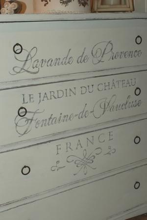 Gammal jugendbyrå text Lavande de Provence