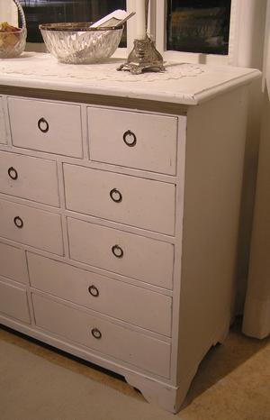 Köpmandisk med 14 lådor