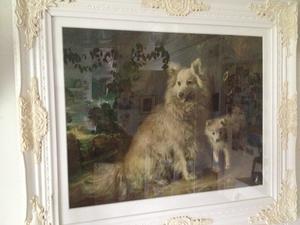 Ljuvlig tavla med hundar