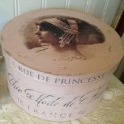 Stor puderrosa hattask Chic Mode de Paris
