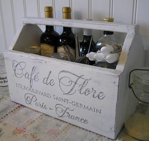 Dekorativ trälåda Café de Flore