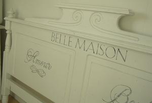 Lantlig sänggavel Belle Maison 160 cm