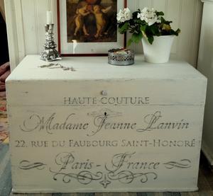 Antik kista shabby chic Madame Jeanne Lanvin