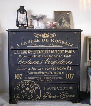1800-talsbyrå med fransk text i guld