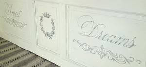 Sänggavel vit shabby chic lantlig Sweet Dreams