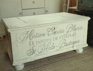 Kista shabby chic Maison Coeurs Blancs 1869