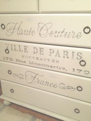 Byrå shabby chic Haute Couture Ville de Paris